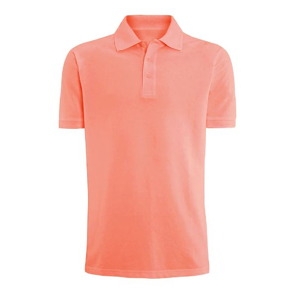Men's Fashion Classic Fit Cotton Polo Shirt - Multiple Colors-Orange-L-Daily Steals