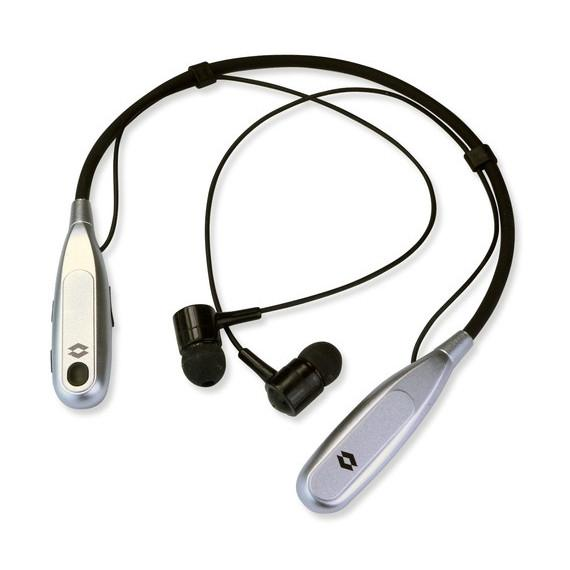 Noise Cancelling Wireless Bluetooth Wrap Around Headset-Silver-Daily Steals