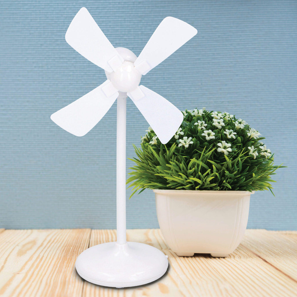 Miniature USB Desk Fan-White-Daily Steals