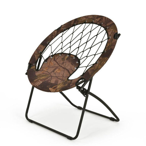 Outdoor Camping Folding Round Bungee Chair-
