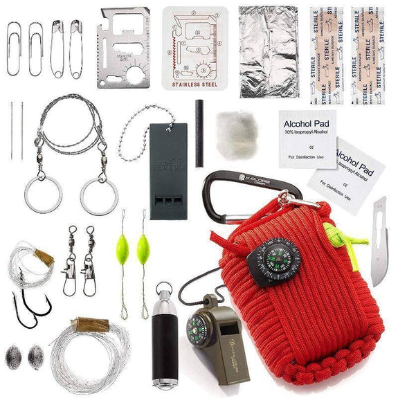Outdoor Emergency Disaster Survival Kit-Red-