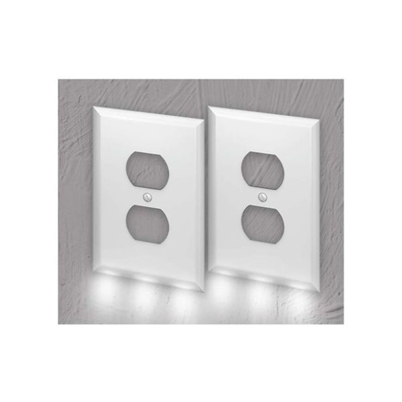Outlet Wall Plate With LED Night Lights-2-Pack-Daily Steals