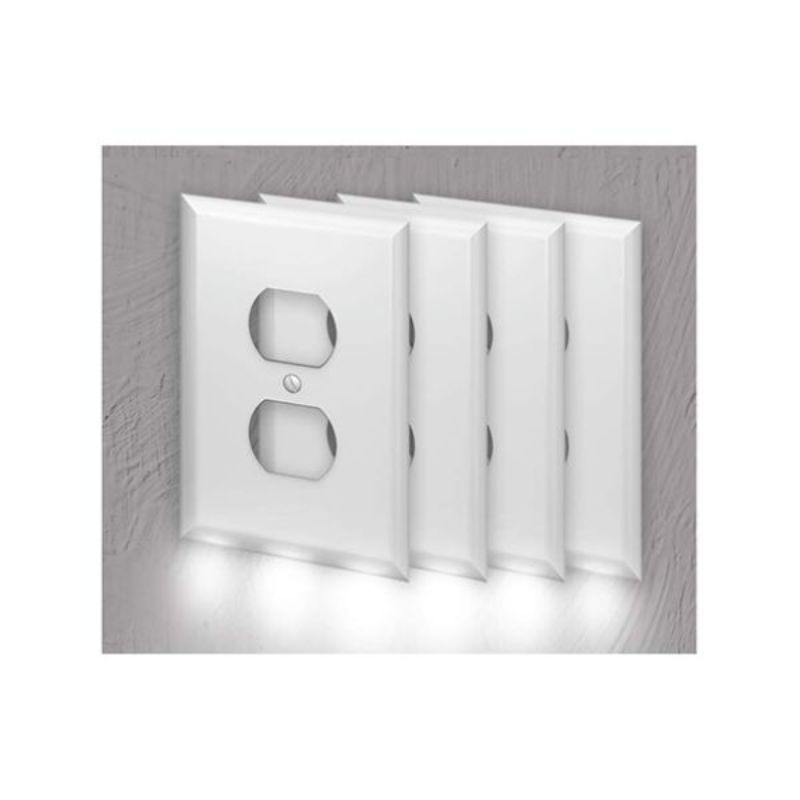 Outlet Wall Plate With LED Night Lights-4-Pack-Daily Steals