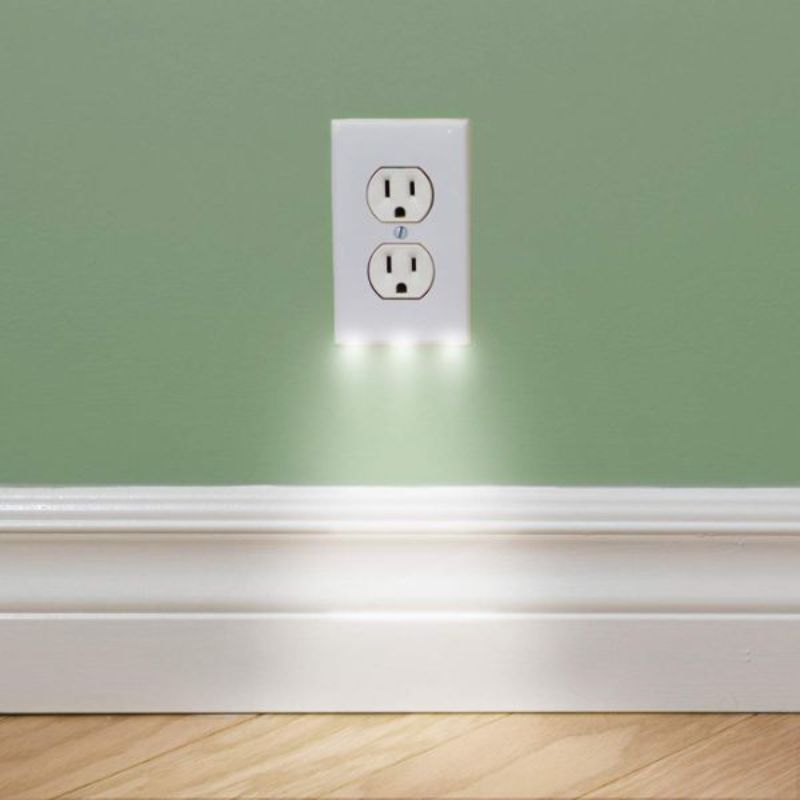 Outlet Wall Plate With LED Night Lights-Daily Steals