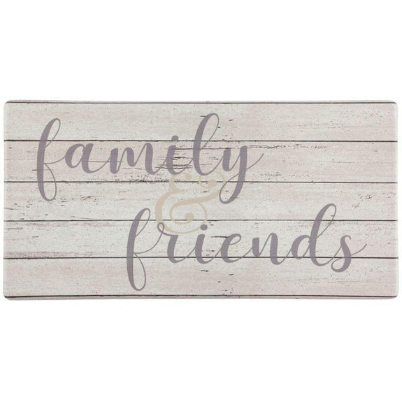 "Oversized 20""x39"" Anti-Fatigue Embossed Floor Mat-FAMILY & FRIENDS-Daily Steals"