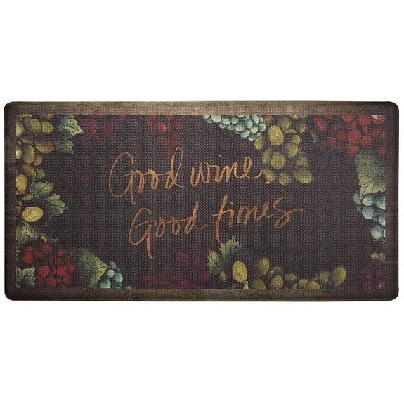 "Oversized 20""x39"" Anti-Fatigue Embossed Floor Mat-GOOD WINE GOOD TIMES-Daily Steals"