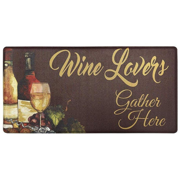 "Oversized 20""x39"" Anti-Fatigue Embossed Floor Mat-WINE LOVERS-Daily Steals"