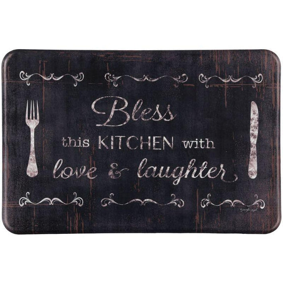 "Oversized Chef Series Anti Fatigue Kitchen Mats-24"" X 36""-BLESS THIS KITCHEN-"