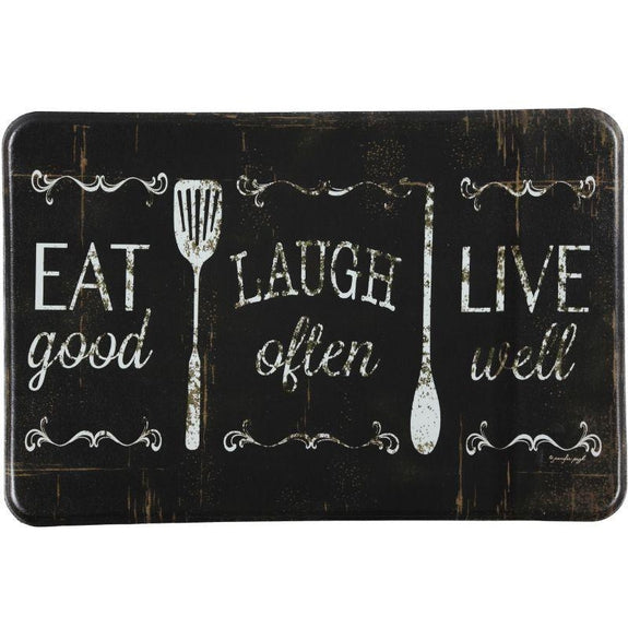 "Oversized Chef Series Anti Fatigue Kitchen Mats-24"" X 36""-EAT LAUGH LIVE-"