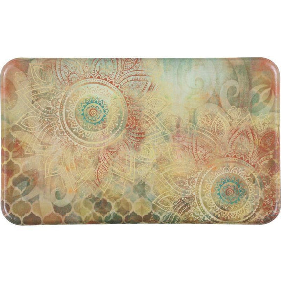 "Oversized Chef Series Anti Fatigue Kitchen Mats-18"" X 30""-BOHO STUDY FLORAL-"