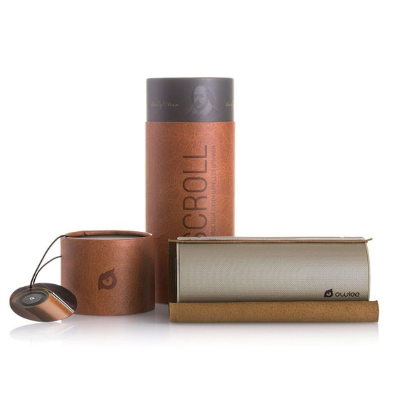 Owlee Scroll Premium Portable Bluetooth Wireless Speaker w/ Vintage Leather-Daily Steals