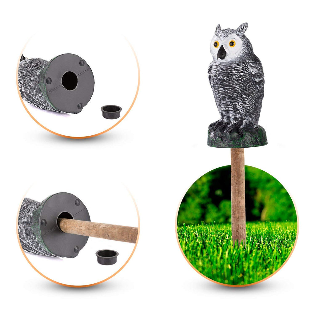 update alt-text with template Daily Steals-Realistic Scarecrow Fake Owl Decoy For Ultimate Garden Protection - 3 Pack-Outdoors and Tactical-