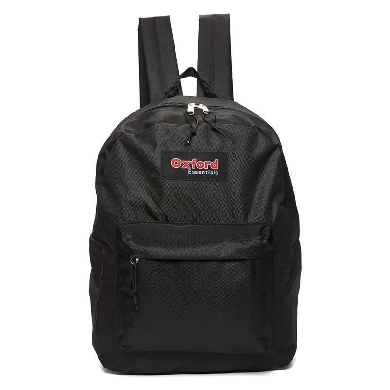 Oxford Essentials Two Pocket School Backpack with Adjustable Straps-Black-Daily Steals