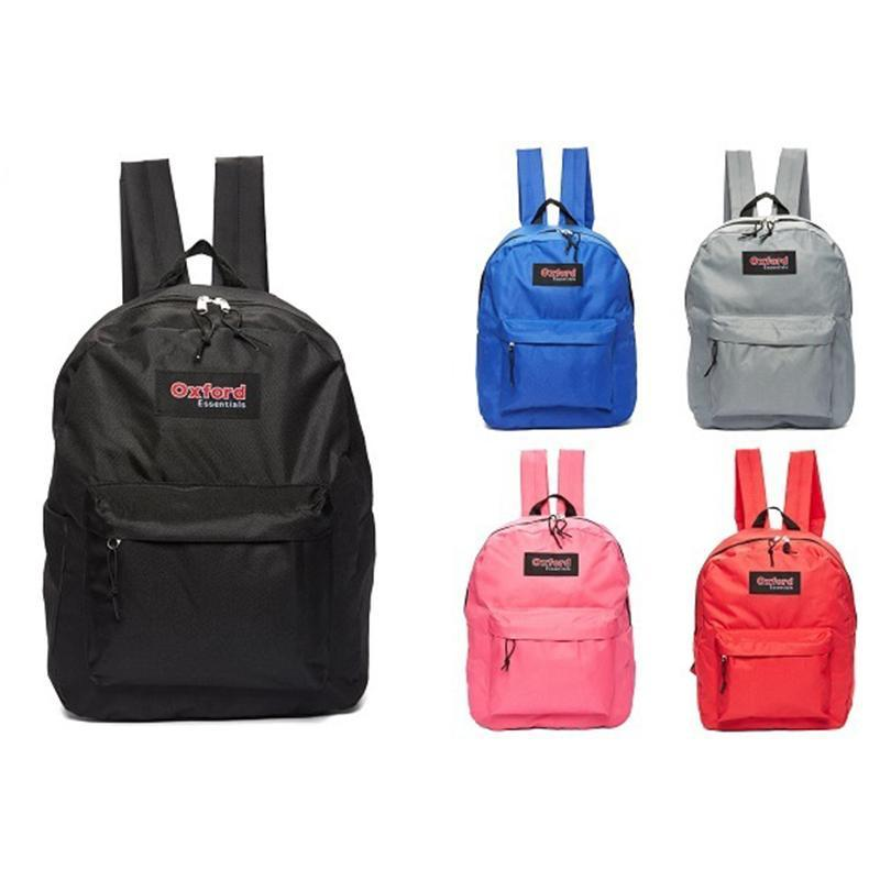 Oxford Essentials Two Pocket School Backpack with Adjustable Straps-Daily Steals