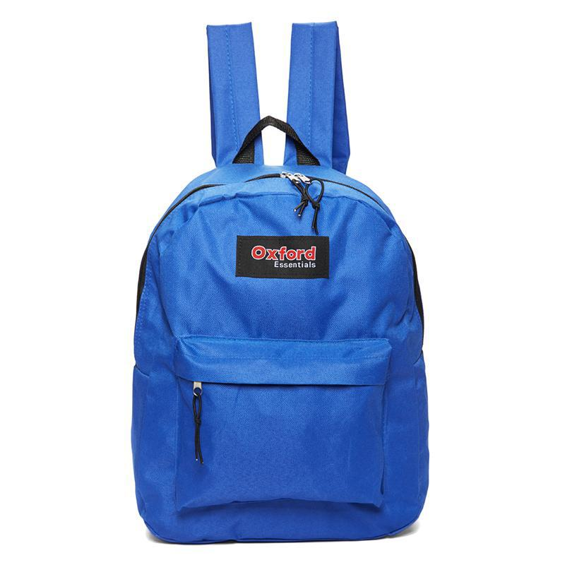 Oxford Essentials Two Pocket School Backpack with Adjustable Straps-Blue-Daily Steals