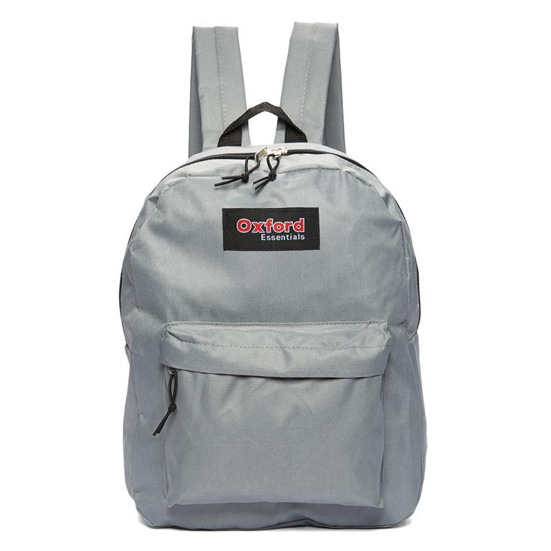 Oxford Essentials Two Pocket School Backpack with Adjustable Straps-Grey-Daily Steals