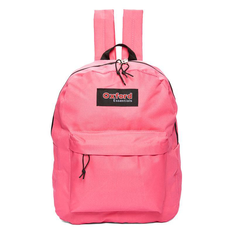 Oxford Essentials Two Pocket School Backpack with Adjustable Straps-Pink-Daily Steals