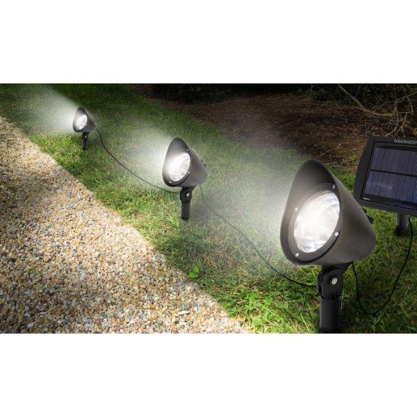 Touch Of ECO 3-in-1 Solar-Powered Spotlight Set - 1, 2, or 3 Pack-Daily Steals