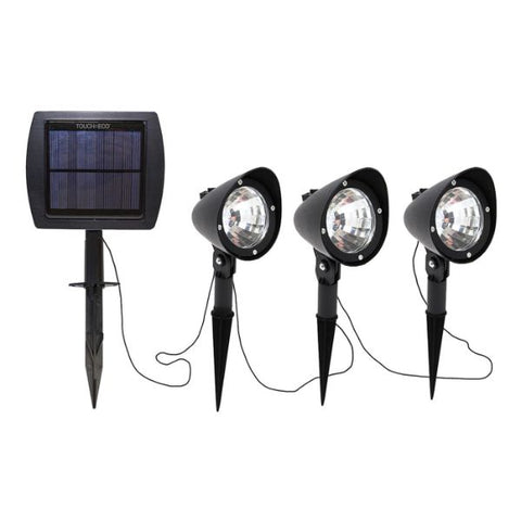 Daily Steals-Touch Of ECO 3-in-1 Solar-Powered Spotlight Set - 1, 2, or 3 Pack-Outdoors and Tactical-1 Set-