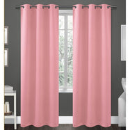 Pair of Double-Panel Blackout Panels - 76 X 84-Fiji Pink-Daily Steals