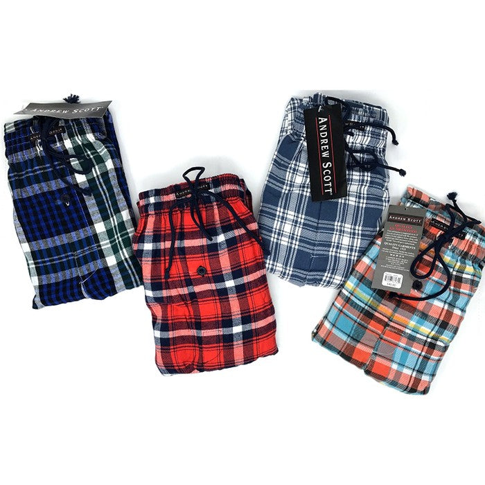 2-Pack Andrew Scott Men's Flannel Fleece Pajama Lounge Pants (S-3X)-Daily Steals
