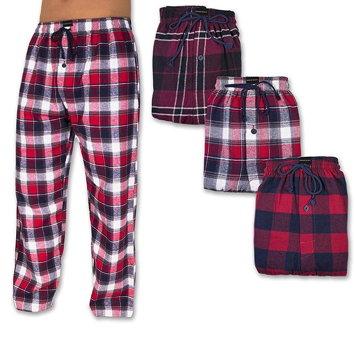 2-Pack Andrew Scott Men's Flannel Fleece Pajama Lounge Pants (S-3X)-2X-Daily Steals
