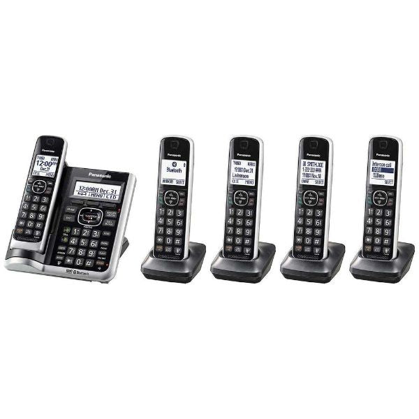 Panasonic 5-Handset Cordless Phones with Auto Call Blocker and Link-2-Cell-Daily Steals