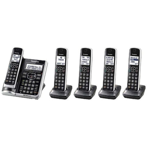 Panasonic 5-Handset Cordless Phone w/Auto Call Blocker and Link-2-Cell-Daily Steals