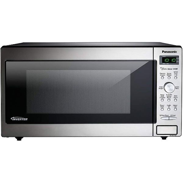 PANASONIC Compact Microwave Oven Built In / Countertop with Inverter Technology and 1250W of Cooking Power - 1.6 cu. Ft-Daily Steals