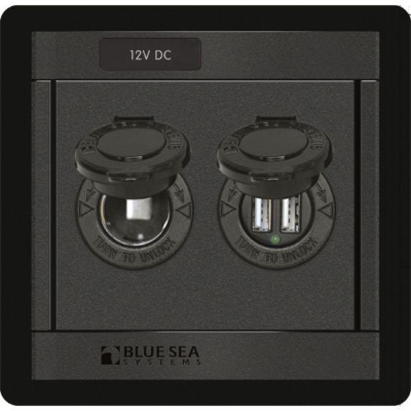Daily Steals-Panel 360, 12V Socket & Dual USB Charger By Blue Sea Systems-Marine-