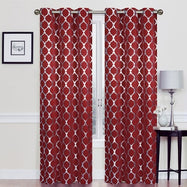 Heavy Double-Layered Blackout Thermal Window Panels-Burgundy-Daily Steals