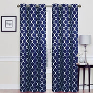 Heavy Double-Layered Blackout Thermal Window Panels-Navy Blue-Daily Steals