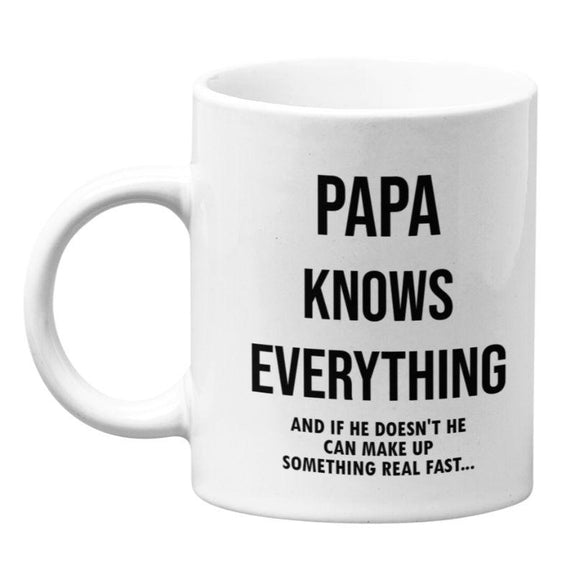 """Papa Knows Everything and if He Doesn't..."" 11oz Coffee Mug-Daily Steals"