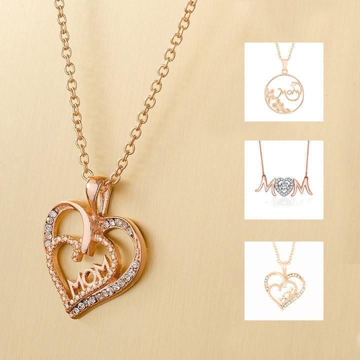 18KT Rose Gold Plated Mom Necklaces-Daily Steals