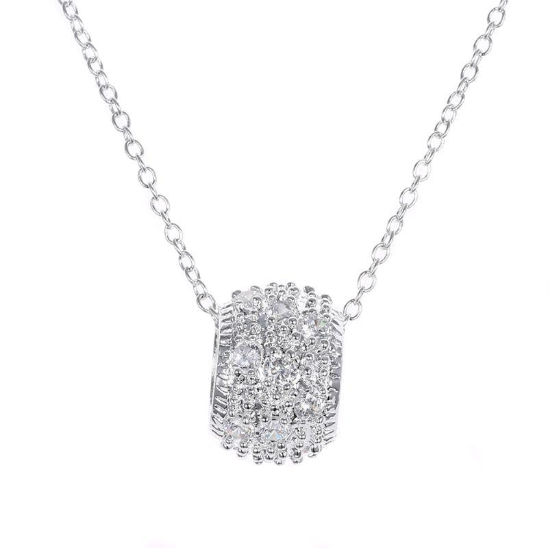 Pave Necklaces Plated in 18K White Gold-Daily Steals