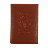 Genuine Leather American Eagle Embossed RFID-Blocking Passport Case-Light Brown-Daily Steals
