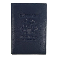 Genuine Leather American Eagle Embossed RFID-Blocking Passport Case-Navy-Daily Steals