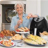 Paula Deen 9.5 QT Family-Sized Air Fryer with Rapid Air Circulation System-Daily Steals