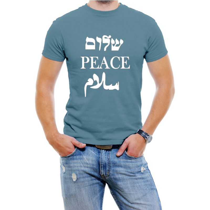 Peace Shalom T-shirts homme-Bleu ardoise-2XL-Daily Steals