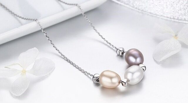 FreshWater Pearl Triple Drop Necklace-Daily Steals