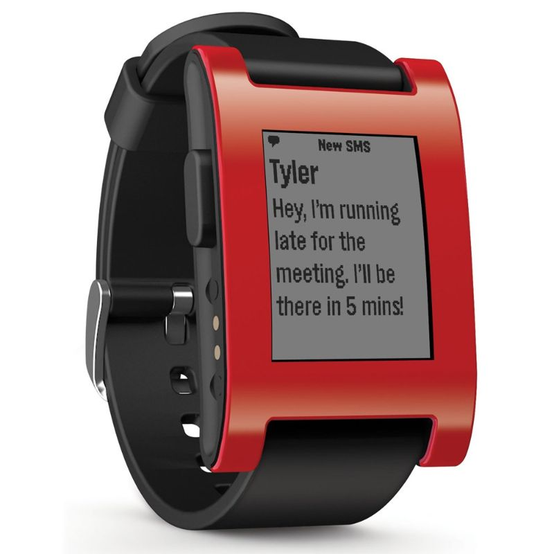 Pebble Smart Watch for iPhone and Android Devices (Red)-Daily Steals