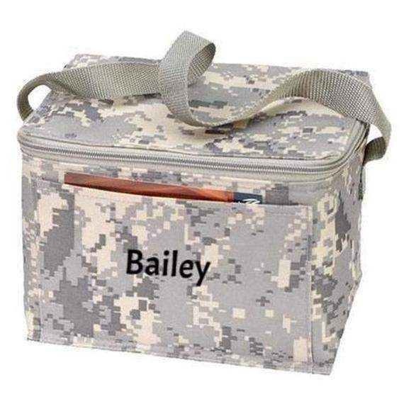 Daily Steals-Personalized Digi Camo 6-Pack Cooler Bag / Lunch Bag-6-Pack Cooler Bag / Lunch Bag-Fun-Black-