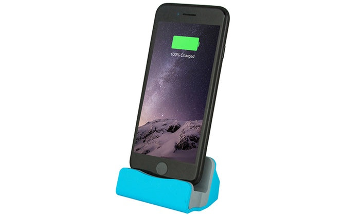 Daily Steals-Charging Dock Station for iPhone or Android-Cell and Tablet Accessories-Blue-iPhone-