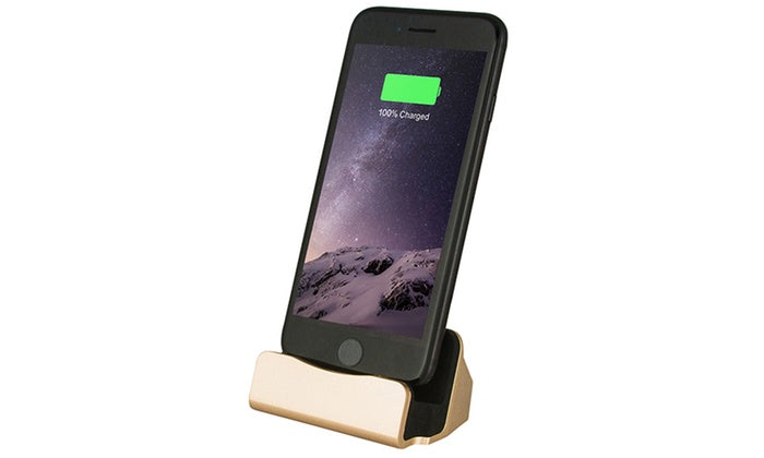 Charging Dock Station for iPhone or Android-Gold-iPhone-Daily Steals