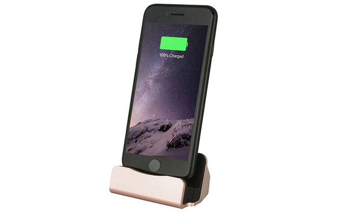 Charging Dock Station for iPhone or Android-Silver-iPhone-Daily Steals