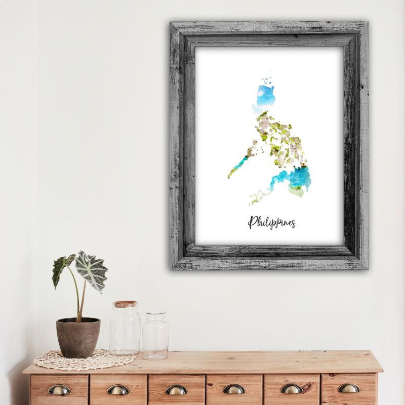 "Philippines Watercolor Map Print - Unframed Art Print-12""x16""-Vertical/Portrait-Daily Steals"