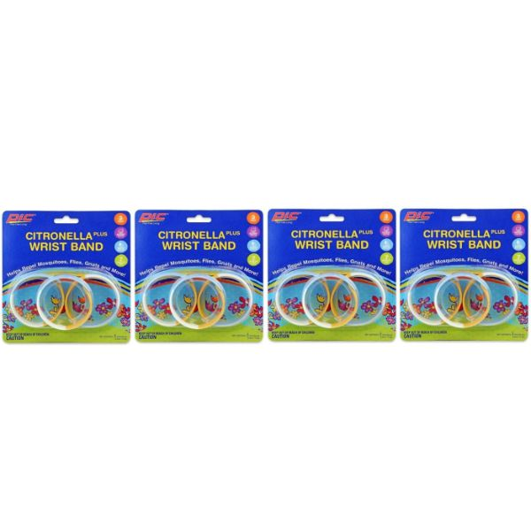 Pic Mosquito Repellent Waterproof Adjustable Wristband - Choice of 6, 12, 18 or 36 Bands-12 Bands-Daily Steals