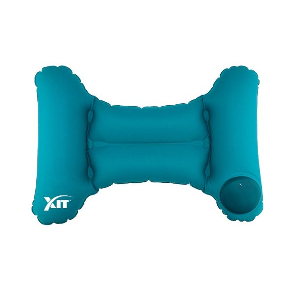 Inflatable & Portable Back Travel Pillow with Built-in Pump-Blue-Daily Steals