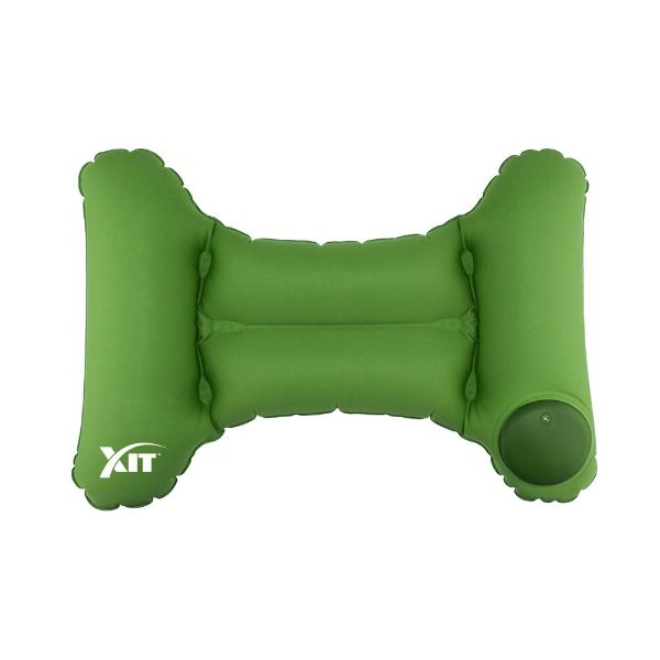 Inflatable & Portable Back Travel Pillow with Built-in Pump-Green-Daily Steals