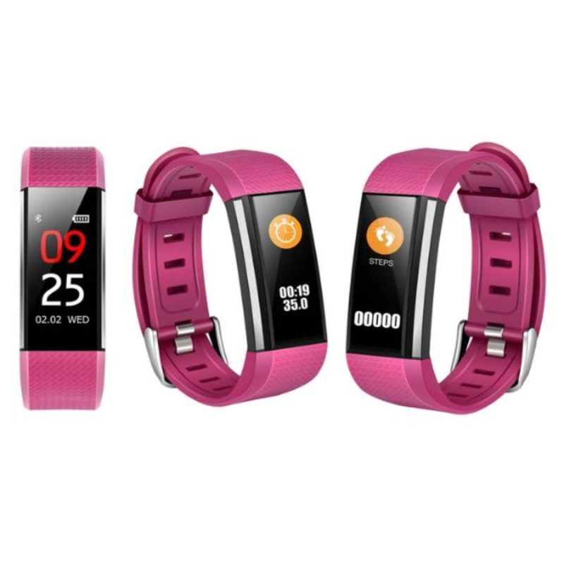 Fitness Activity Watch with Heart Rate, Blood Pressure, and Sleep Monitor-Pink-Daily Steals